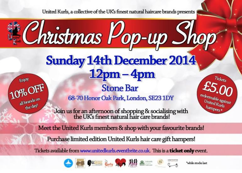 United Kurls Festive Pop Up Shop Event