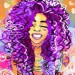 Black Art: Pink & Purple Female Illustrations