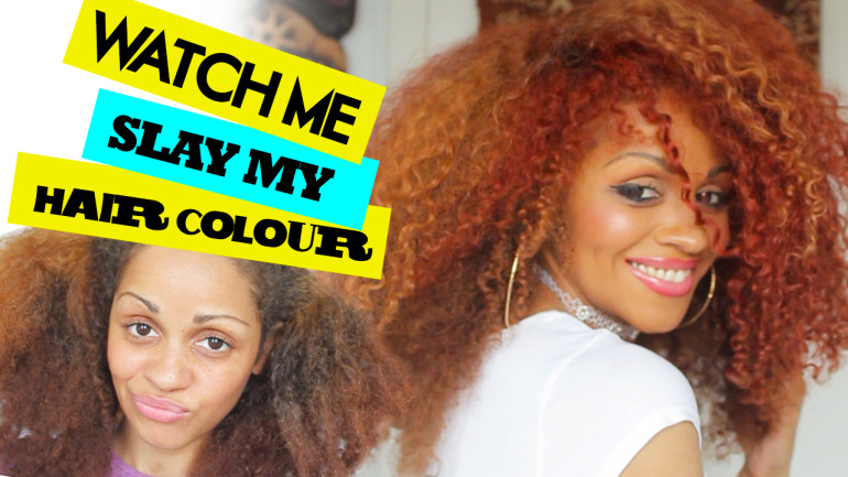 Watch Me Slay 2 Hair Colours On Natural Hair (tutorial)