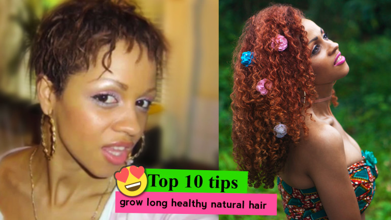 Top 10 Tips to Grow Out Long Back Length Healthy Natural Hair 😍