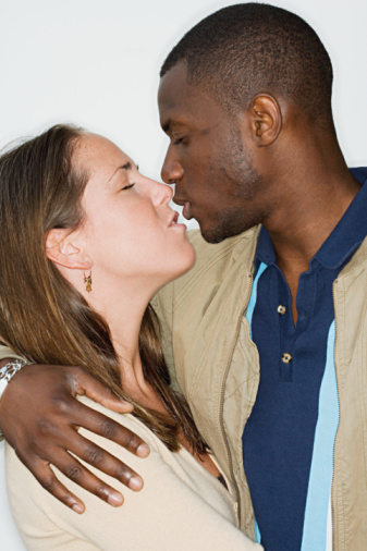 real video of black men and white women kissing